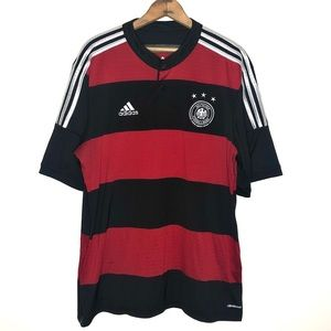 Adidas Red and Black Germany Soccer Jersey Size XL